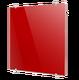 Стеклянный дизайн-радиатор Теплолюкс FLORA Красный
